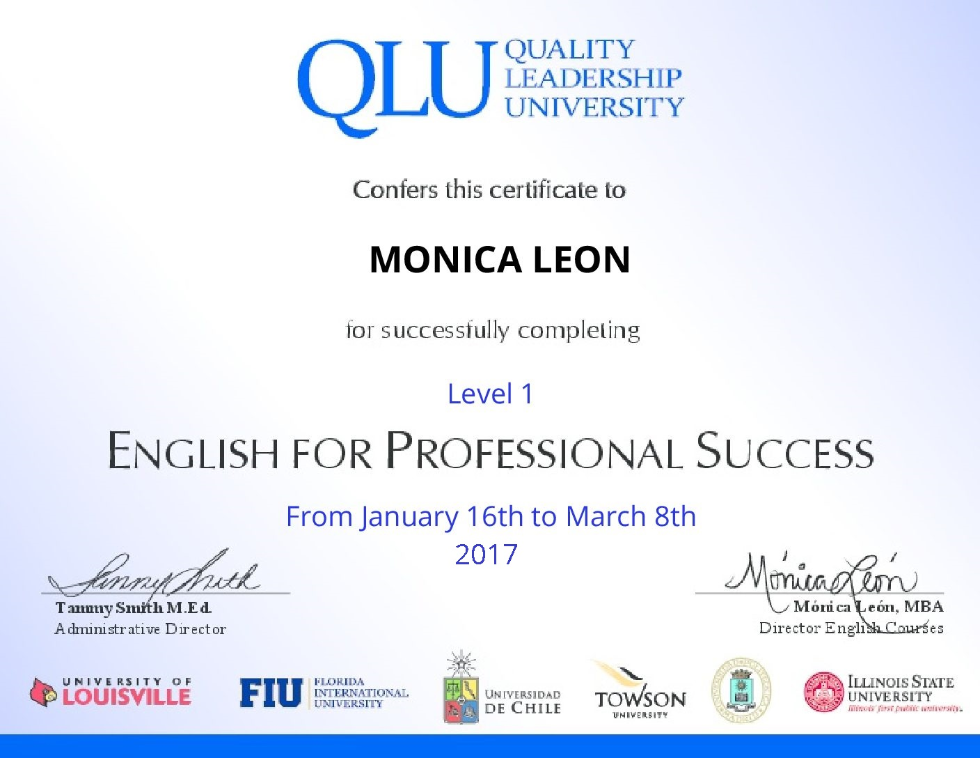 English For Professional Success Certificate Of Completion Simplecert