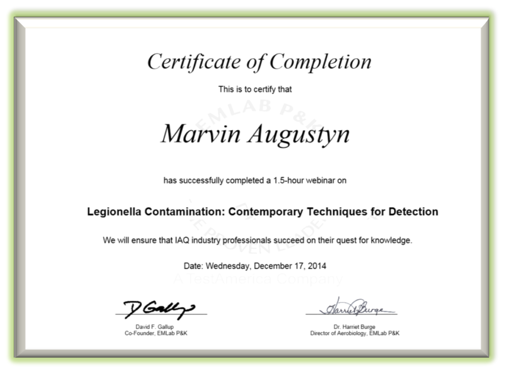 Certificate of Completion Training Certificate Example