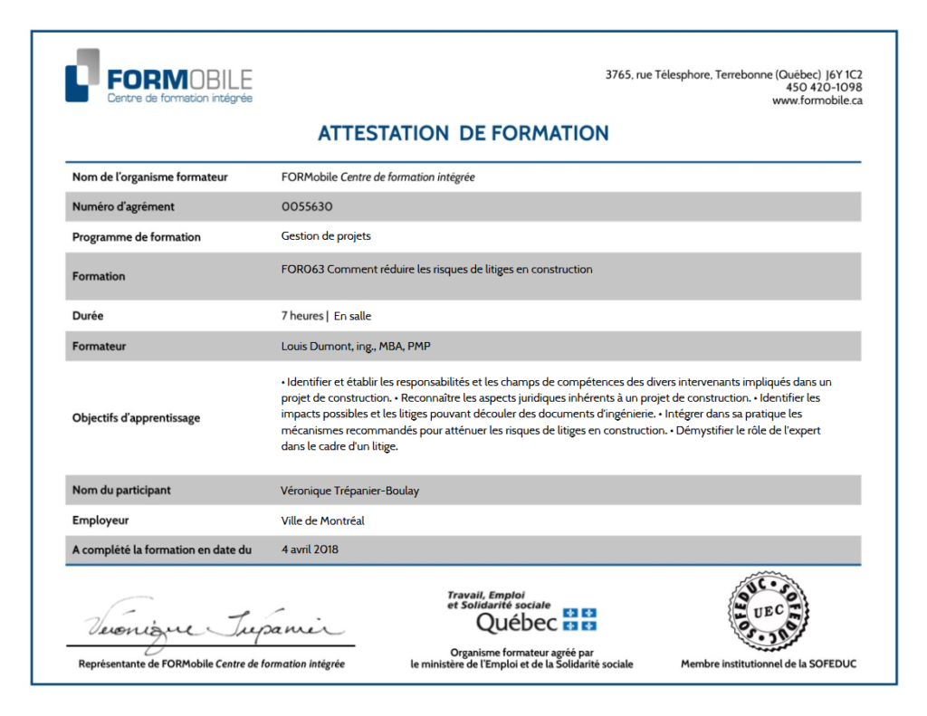Formobile_certificate_of_training